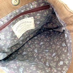 Aeropostale Bags - Aeropostale Corduroy Shoulder Bag Brown Tote